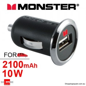 Monster Mobile® PowerPlug USB 600 Car Charger CCHGR-1