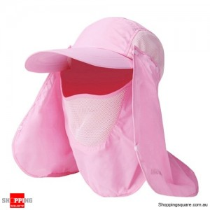 Outdoor Sun Protective Quick Dry Hat for Fishing Hiking - Pink Colour
