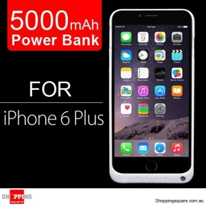 5000mAh Battery Power Bank Case Charger For iPhone 6 Plus/6S Plus White Colour