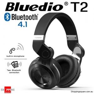 New Bluedio T2 Wireless Bluetooth V4.1 Stereo Headphones BLACK