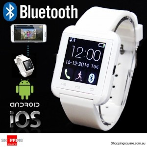 New U8 Plus Bluetooth Smart Wrist Watch for iOS Android Smart Phone White Colour