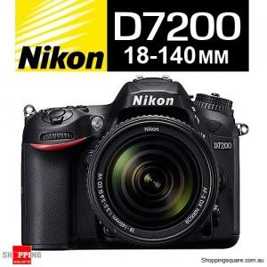 Nikon D7200 + AF-S 18-140mm f/3.5-5.6G VR Camera DSLR Lens Kit