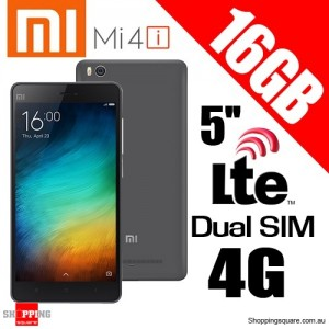 Xiaomi Mi4i 16GB Dual Sim 4G LTE1.7GHz octa-core 5'' Smart Phone Black