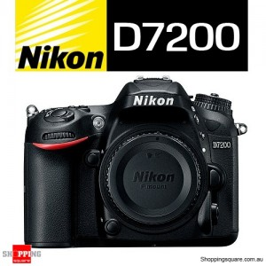 Nikon D7200 Digital SLR 24.2 MP Full HD Camera Body Black