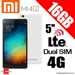 Xiaomi Mi4i 16GB 2GB RAM Dual Sim 4G LTE1.7GHz octa-core 5'' Smart Phone White