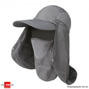 Outdoor Sun Protective Quick Dry Hat for Fishing Hiking - Grey Colour