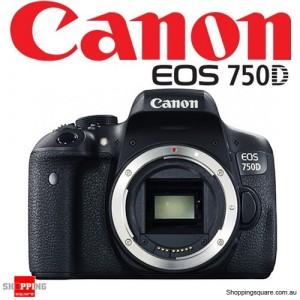 Canon EOS 750D Digital Camera Black Body