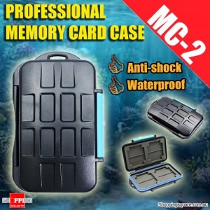 MC-2 Type Professional Anti-shock Waterproof DC Memory Card Case Holder for CF SD