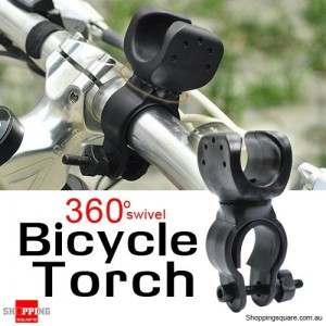 Bicycle Flashlight Torch Mount Holder 360 Degree Rotation