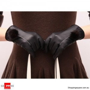 Women's Winter Warm Leather Touch Screen Glove for Smartphone Tablet Large Size