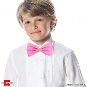 Boy's Solid Bowtie Pink Colour