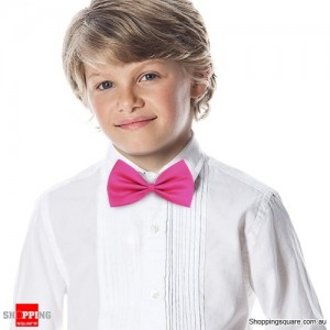 Boy's Solid Bowtie Cherry Red Colour