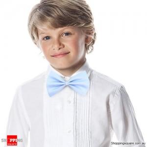Boy's Solid Bowtie Light Blue Colour