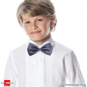 Boy's Solid Bowtie Dark Grey Colour
