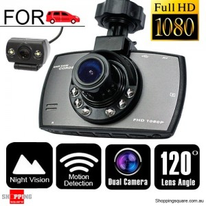 Full HD 1080P Dual Car Video Camera Recorder with Night Vision