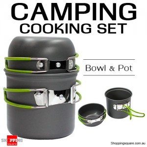 Portable Outdoor Camping Cooking Nonstick Bowl and Pot Set