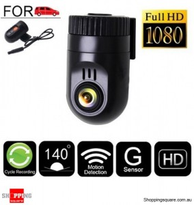 Full HD 1080P Small Dash Car Camera Video Recorder with G-sensor