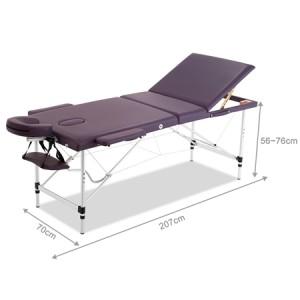 Genki Adjustable Foldable Massage Table with Carry Case-Violet