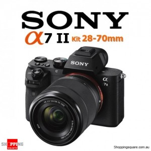 Sony A7 Mark II Mark 2 ILCE-7M2 24.3MP Mirrorless Digital Camera Kit FE 28-70mm Zoom Lens