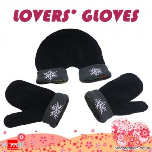 Lovers Warm Winter Mittens for Holding Hands