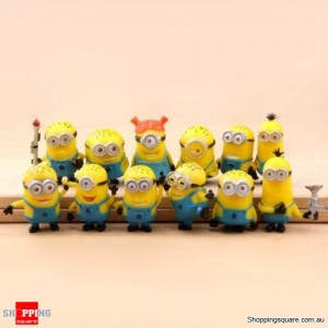 COOL Cute Despicable Me 2 minions Movie Character Figures Doll Toy set of 12pcs