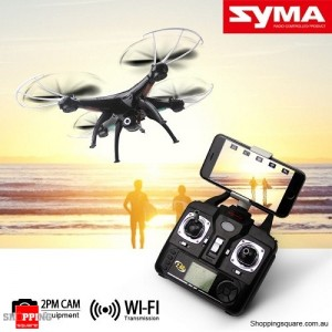 Syma X5SW WiFi FPV Real-Time 2.4G 6Axis 4CH 2MP Remote Control Quadcopter BLACK