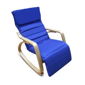 Blue Birchwood Rocking Chair with Cushion
