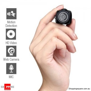 World's Smallest Camera Mini DVR Digital Video Camcorder with Microphone & TF Slot BLACK