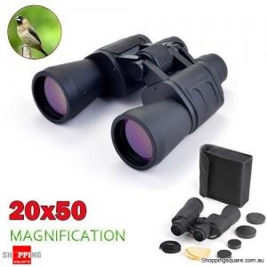 Portable 20X50 Zoom HD Blue Membrane Binoculars Outdoor Telescope