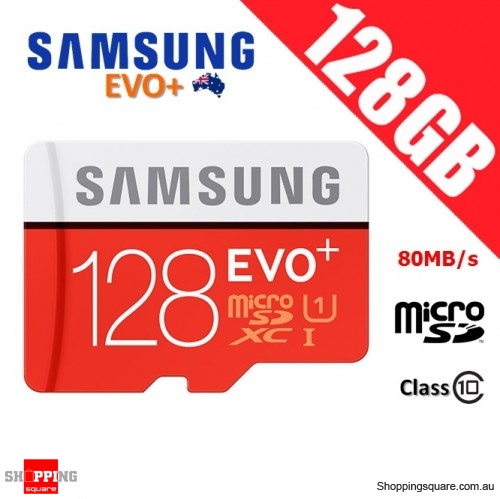 Samsung EVO Plus 128GB micro SD SDXC Memory Card UHS-I U1 80MB/s Full HD