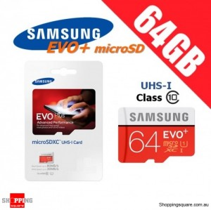 Samsung 64GB EVO Plus Class 10 80MB/s Micro SD TF Memory Card