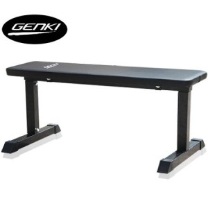 Genki Flat Fitness Bench With Exercise Mat