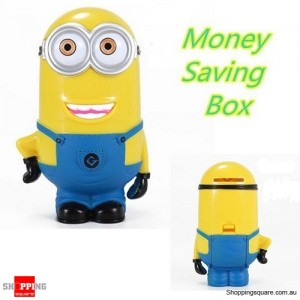 New Hot Cute Despicable Me 2 Minions 3D Figure Money Bank
