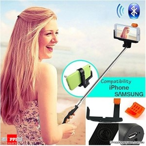 Bluetooth Selfie Stick for iPhone, Android Smart Phone, GoPro, Digital Camera - Black