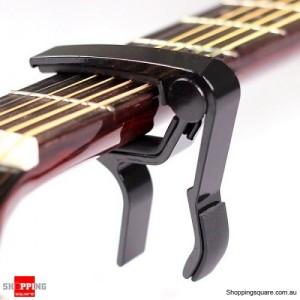 Aluminum Black Guitar Capo Spring Trigger Quick Change For Tone Adjusting