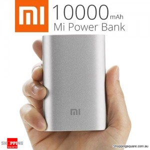 Genuine XIAOMI 10000mAh Portable Power Bank Li-ion Battery Charger 5V/2.1A for iPad iPhone SILVER