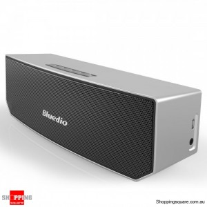 Bluedio BS-3 Bluetooth V4.1 Portable Wireless Sound Bar 3D Stereo Speaker SILVER