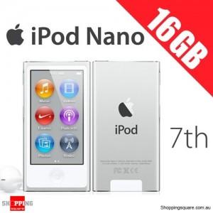 Ipod Nano Generation 7 16GB White Silver