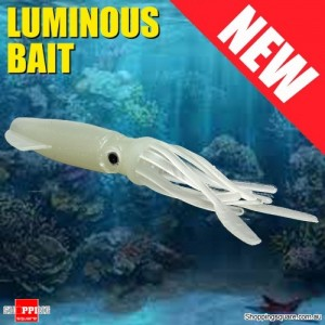 10.5cm Squid Shaped Glow in Dark Soft Fishing Lure