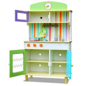 Multi-Colour Wooden Toy Kitchen Set