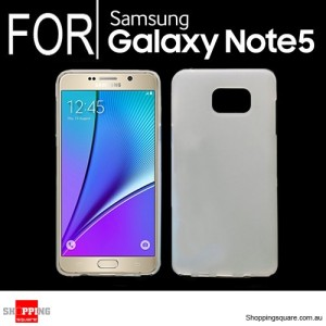 Slim Soft Gel Case Cover for Samsung Galaxy Note 5 White Colour