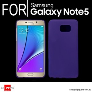 Slim Soft Gel Case Cover for Samsung Galaxy Note 5 Purple Colour