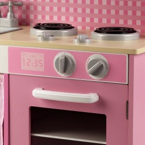 Pink Toy Kitchen with Sink & Microwave Oven