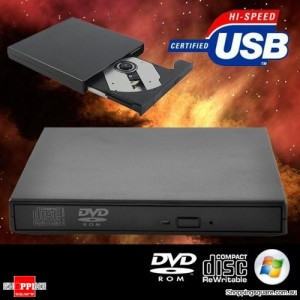 Portable External Slim USB 2.0 IDE Computer DVD ROM Drive CD RW Burner For Windows
