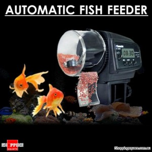 Automatic Aquarium Fish Food Feeder with Digital Display and Timer Function