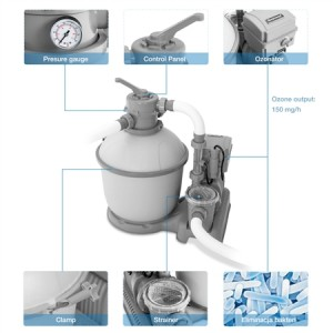 1200gal Flowclear Sand Filter with Ozonator