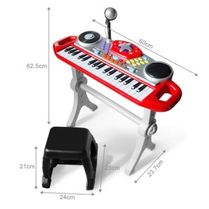 Red Electric Organ Keyboard Rock Star Set