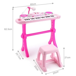 Pink  Electric Organ Keyboard Rock Star Set