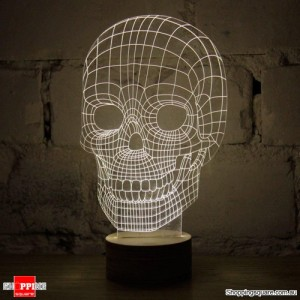 Skull Shaped Creative 3D Micro USB LED Light Table Lamp