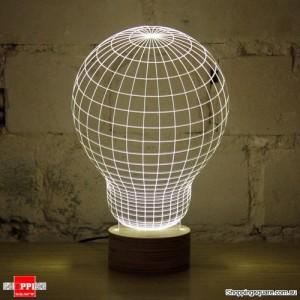 Bulb Shaped Creative 3D Micro USB LED Light Table Lamp